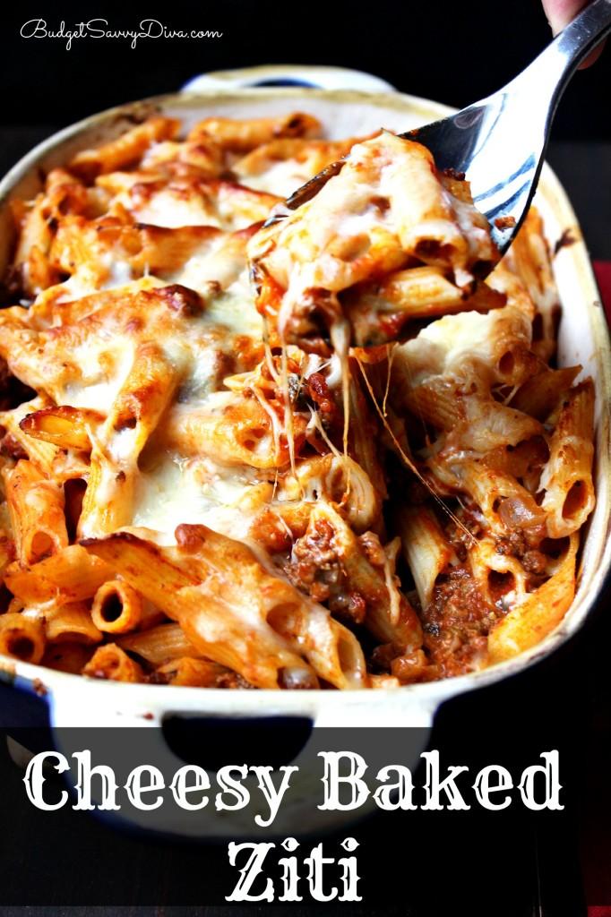 Cheesy Baked Ziti Recipe