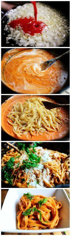 Pasta with Tomato Cream Sauce by thepioneerwoman