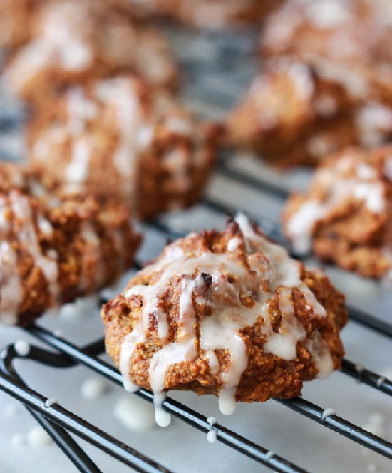 Pumpkin-Pecan-Cookies-with-Orange-Glaze-3