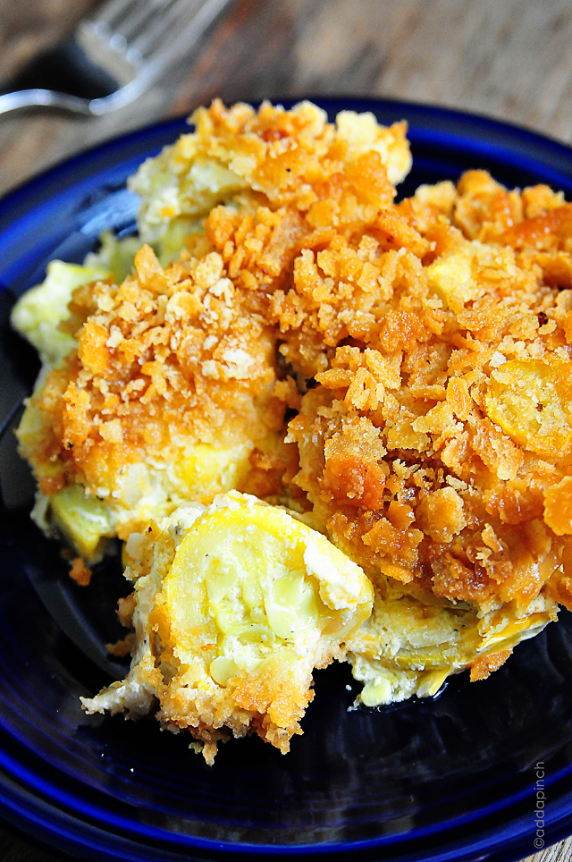Squash Casserole Recipe by addapinch