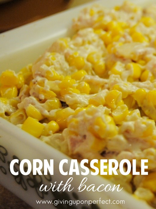 Corn Casserole with Bacon