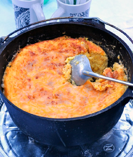 Dutch Oven Corn Casserole