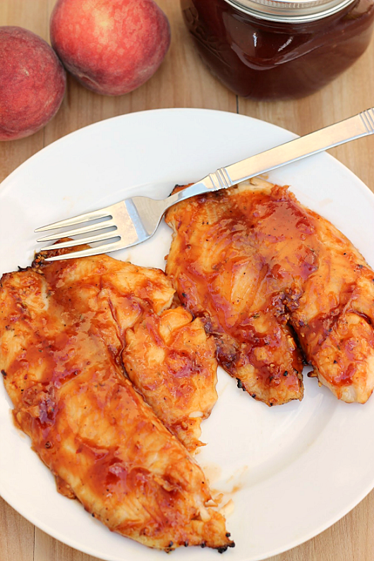 Peach Barbecue Grilled Tilapia