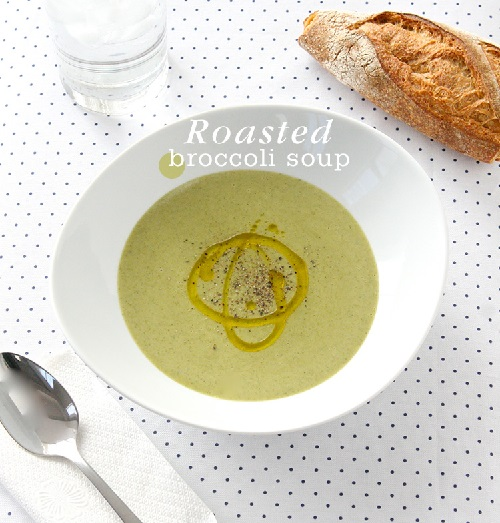 5-Ingredient Roasted Broccoli Soup