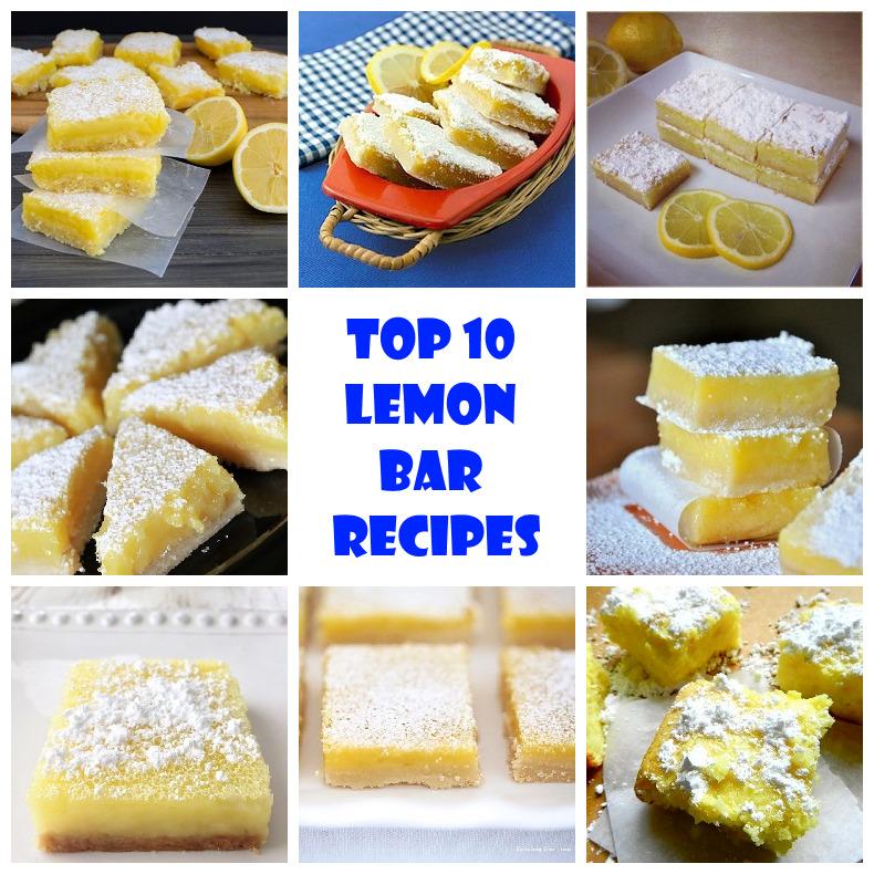 Top 10 lemon bar recipes recipeporn for Bar food top 10