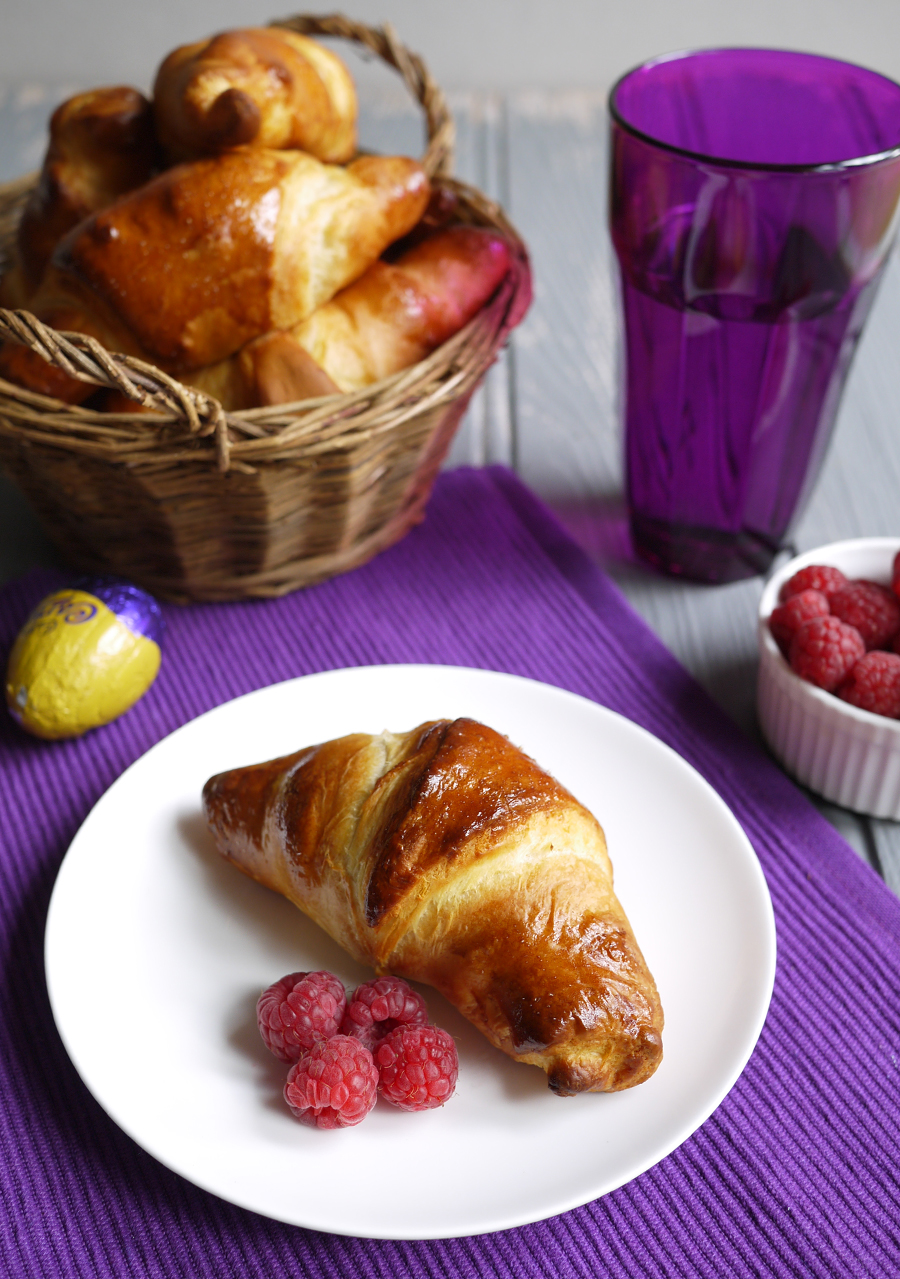 Caramel Egg Stuffed Easter Croissants