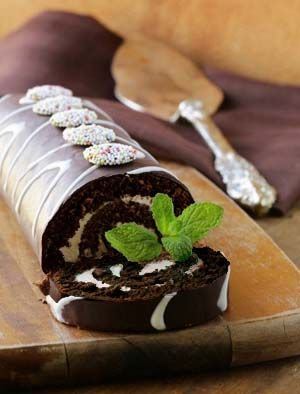 Flourless Gluten Free Chocolate Roll Cake