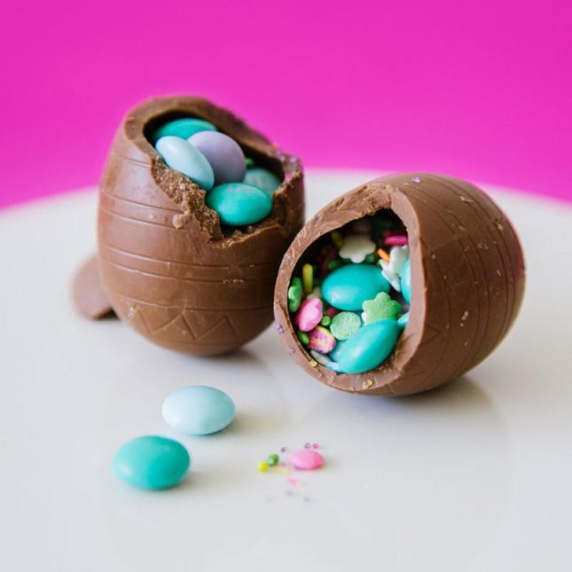 Hollow Chocolate Confetti Eggs