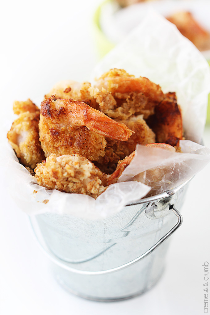 Pan Fried Creole Shrimp + Spicy Dipping Sauce