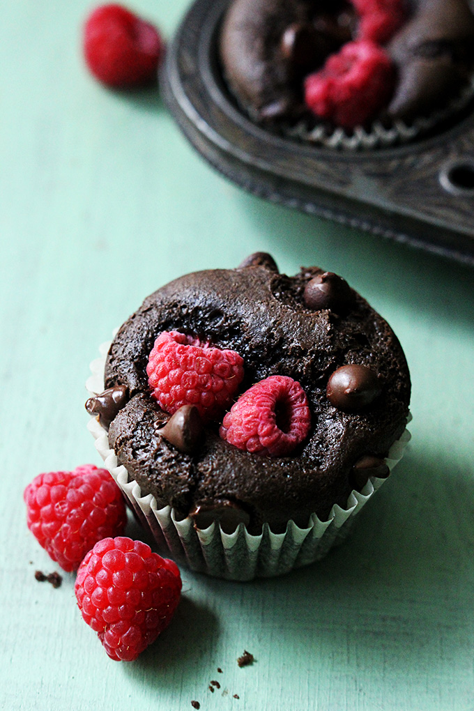 Raspberry Chocolate Muffins