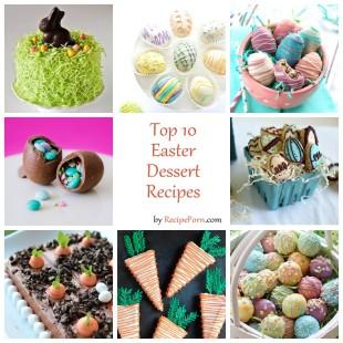 Top-10 Easter Dessert Recipes