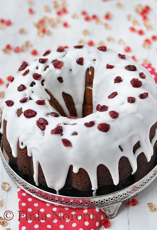 Lime Cranberry Pound Cake