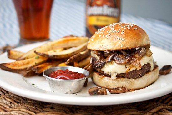 Mushroom, Onion & Swiss Burger