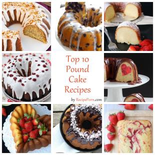 Top-10 Pound Cake Recipes