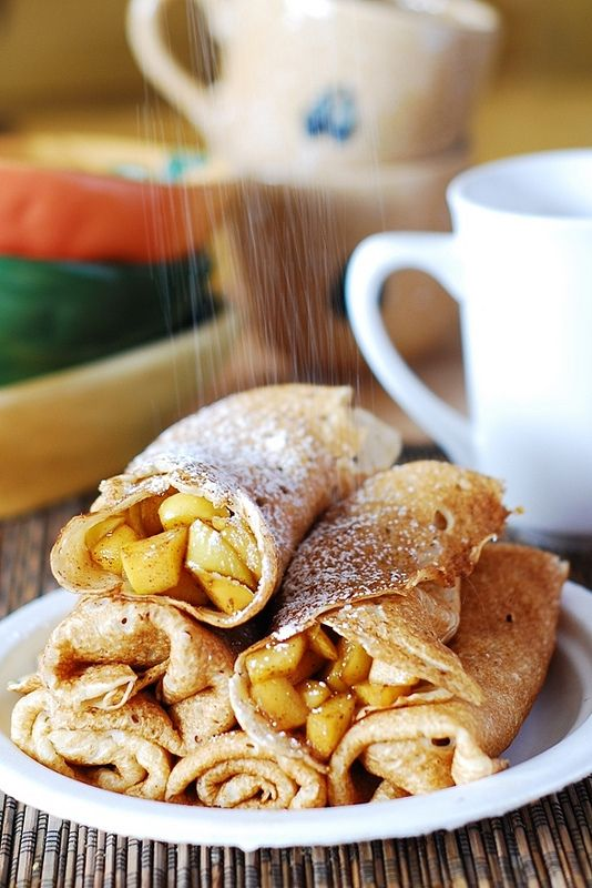 Apple Cinnamon Crepes, or Apple Pie