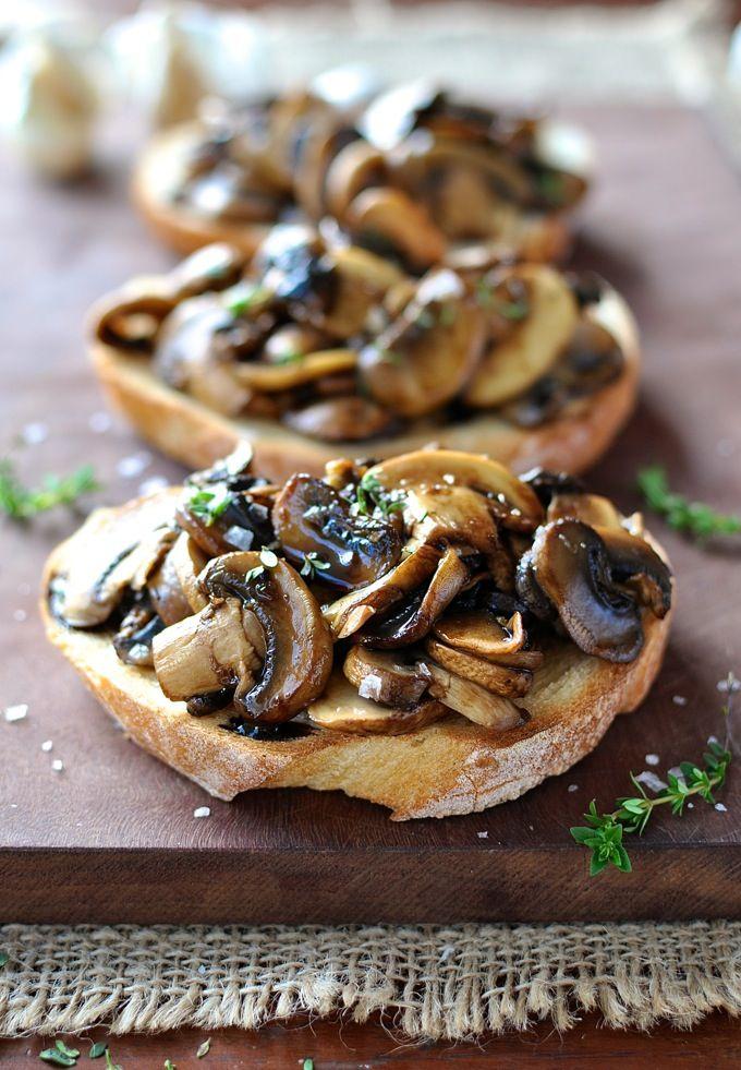 Balsamic Thyme Mushroom Bruschetta
