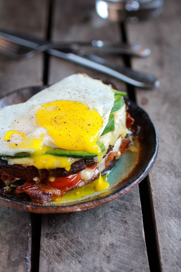 Crispy Kale BLT Croque Madame with Smoked Gouda + Avocado
