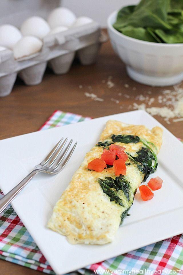 Easy Spinach & Egg White Omelette