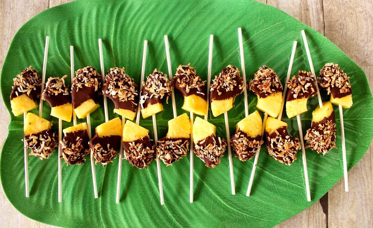 Frozen Chocolate Dipped Pineapple Pop