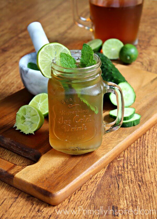 Iced Green Tea Mojito (Digestive Aid and Liver Detox)