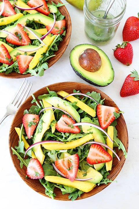 Mango, Strawberry, and Avocado Arugula Salad