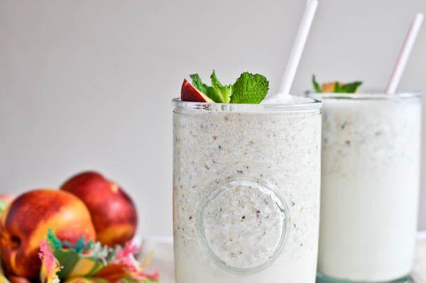 Nectarine Mint Milkshakes