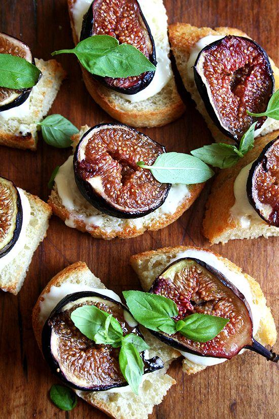Roasted Plum (or fig) Tartines