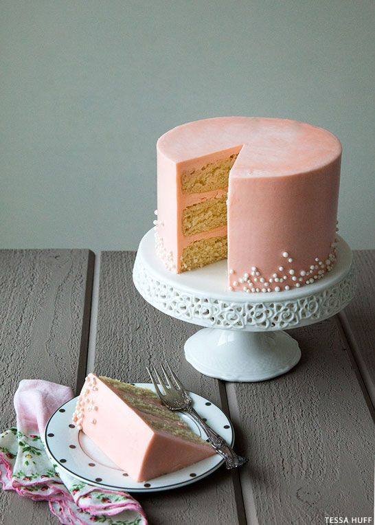 White Chocolate & Rose Buttercream Cake