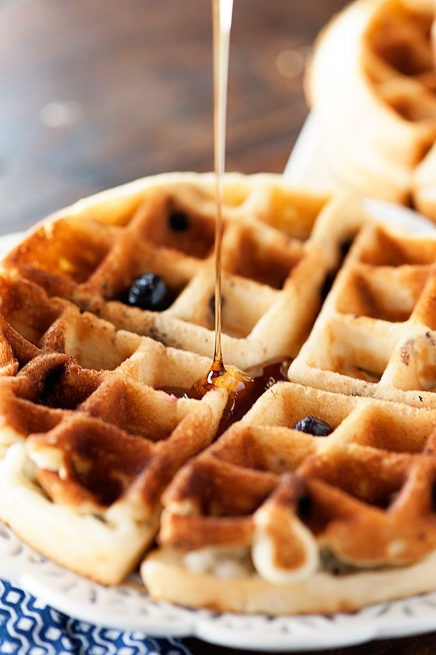 Blueberry Muffin Waffle Recipe
