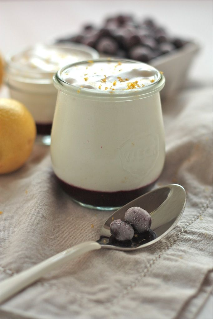 Light and Healthy Blueberry Lemon Mousse