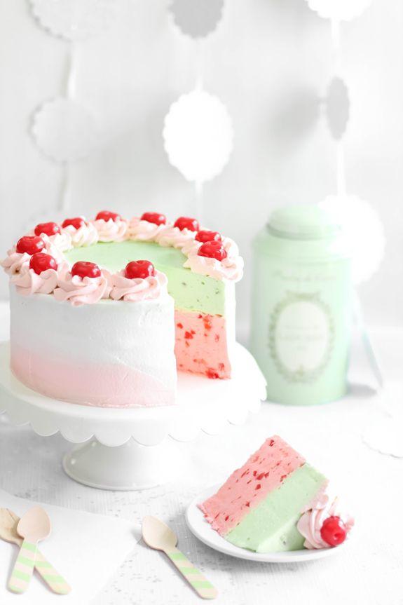Spumoni Mousse Cake