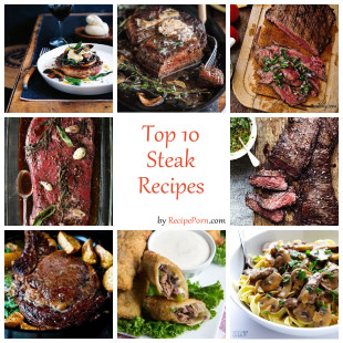 Top-10 Steak Recipes