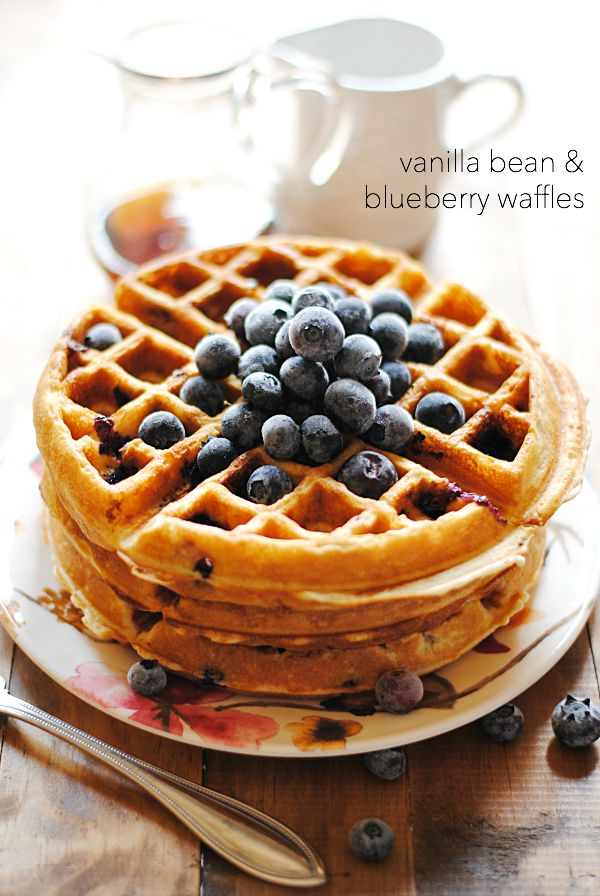 Vanilla Bean & Blueberry Waffles