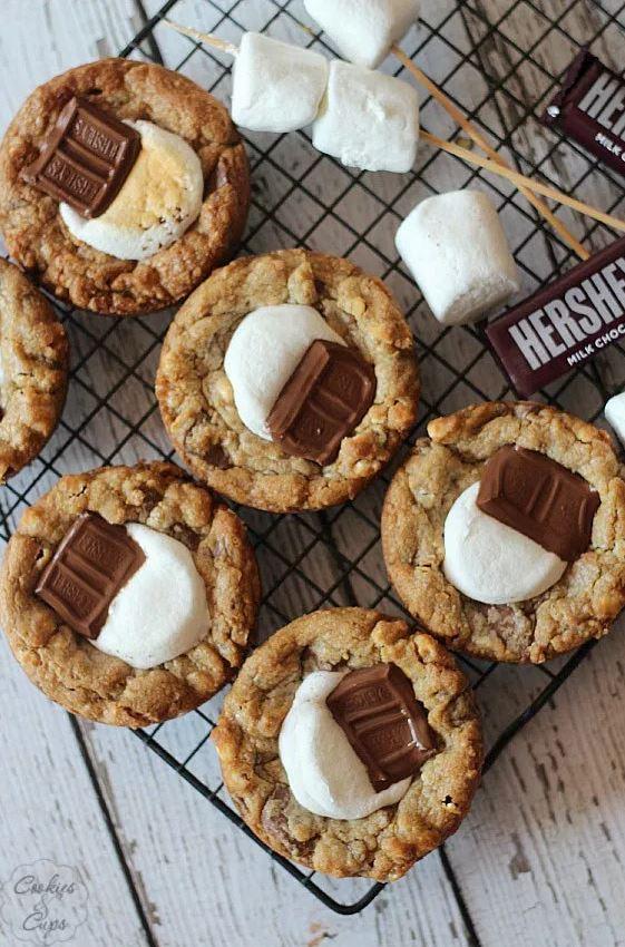 Deep Dish S'mores Cookies