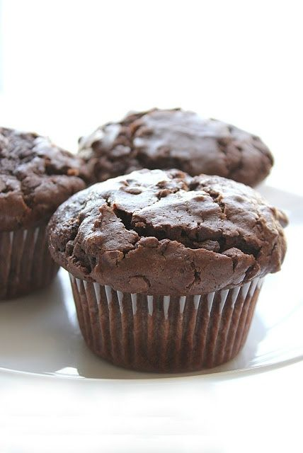 Moist, Bakery-Style Double Chocolate Muffins