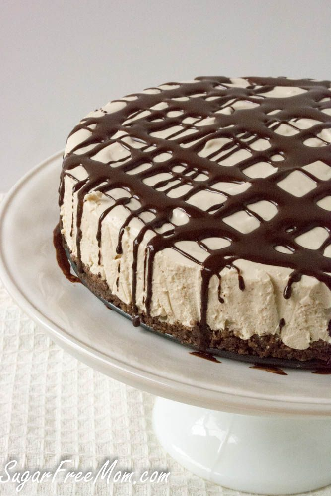 No Bake Sugar Free Coffee Cheesecake