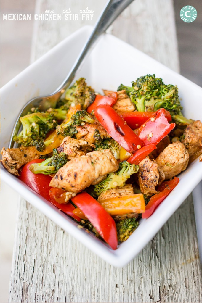 One Pot Paleo Mexican Chicken Stir Fry