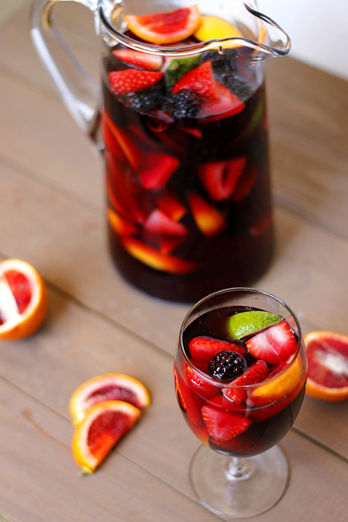 Blood Orange Blackberry Sangria