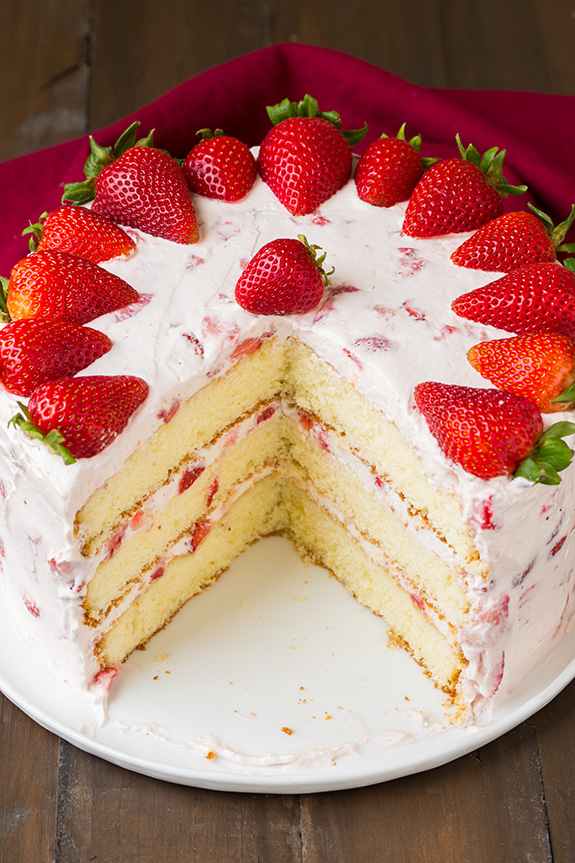 Top-10 Strawberry Cake Recipes - RecipePorn