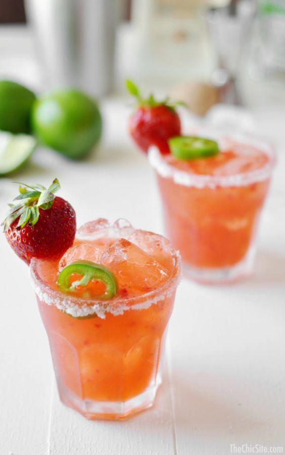 Fresh Strawberry Jalapeño Margarita