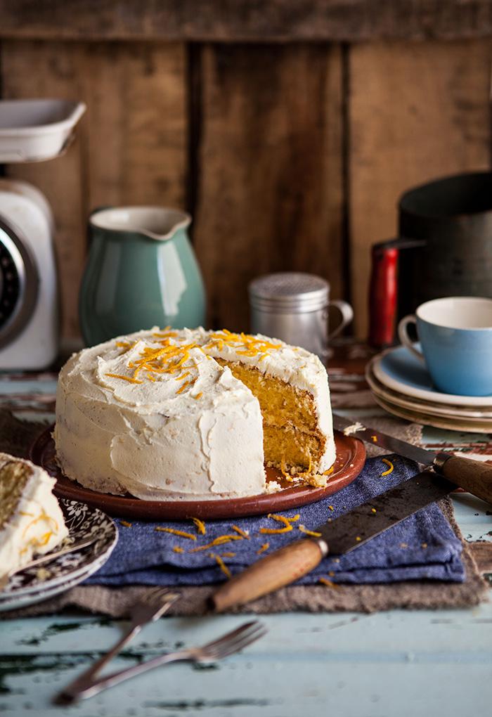 Orange Cake with Orange Buttercream