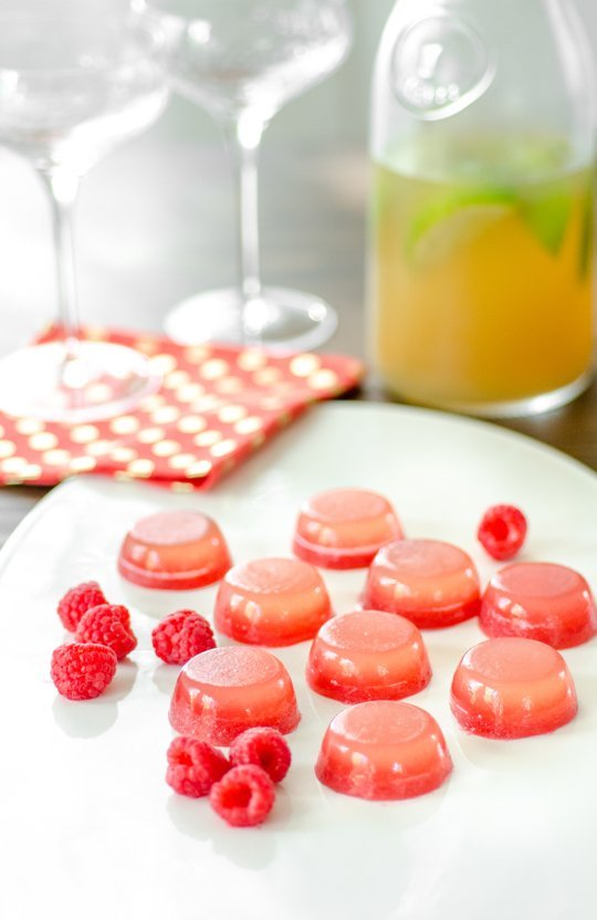 Raspberry Lemonade Jello Shots