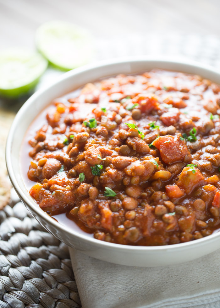 20 Minute Easy Vegan Lentil Chili