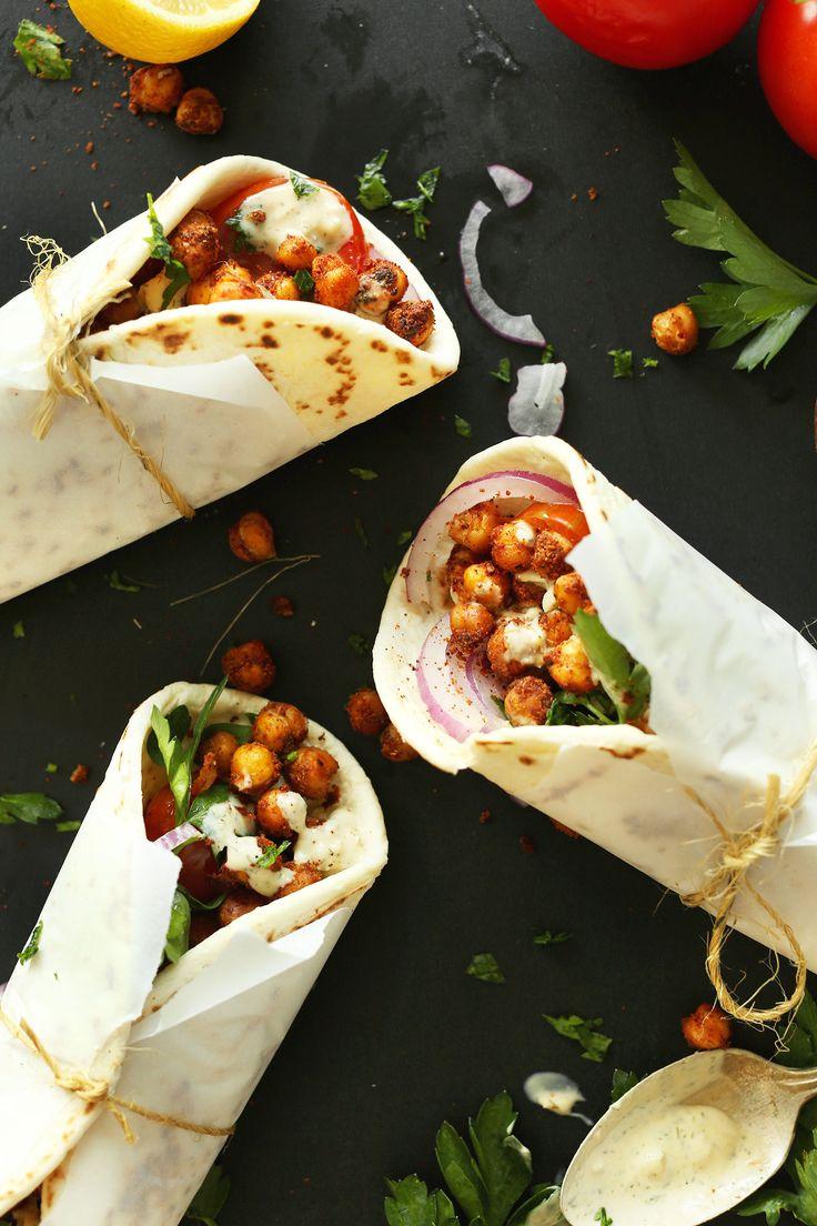 Chickpea Shawarma Sandwich