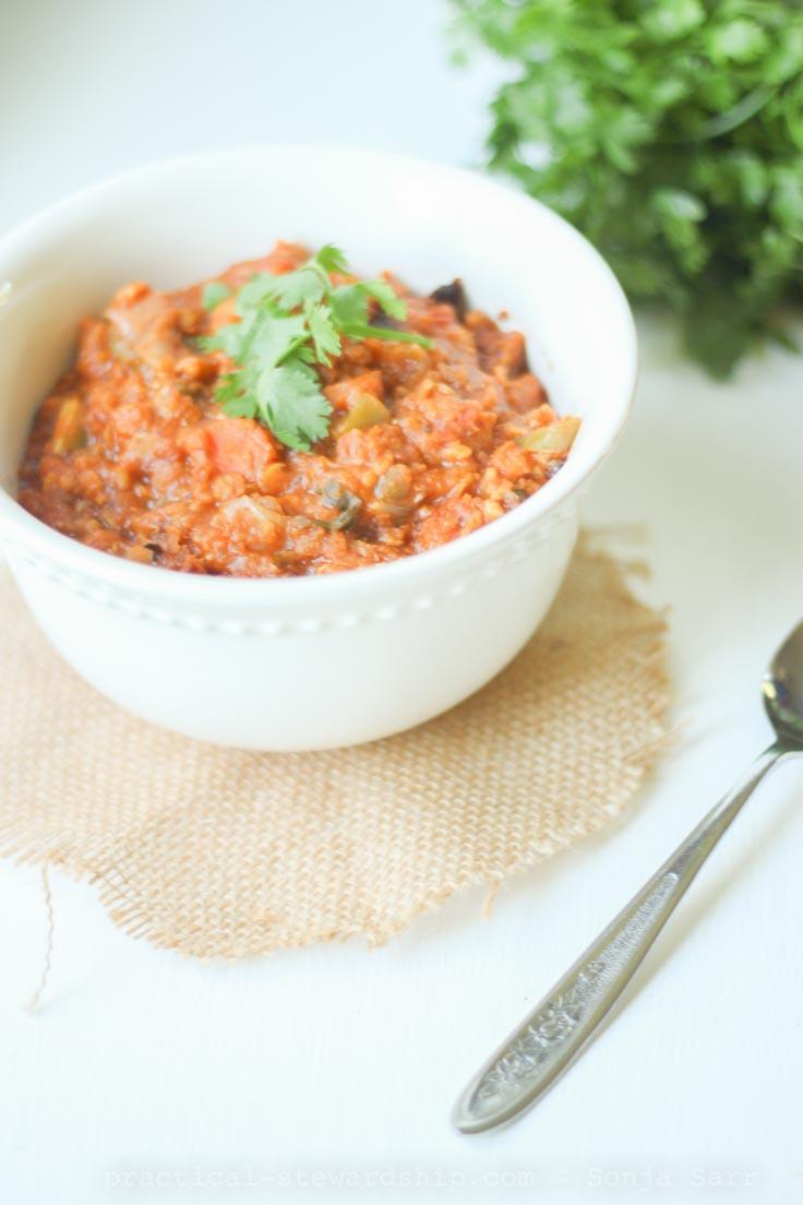 Crock-Pot Lentil Vegetable Chili