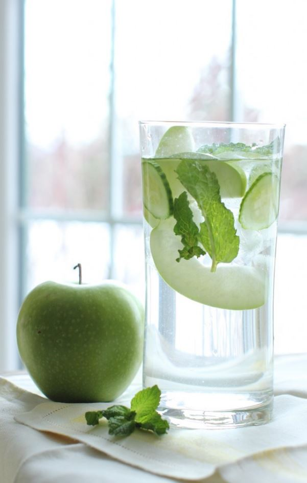 Dieter's Wonder Water – with Green Apple, Cucumber, and Mint