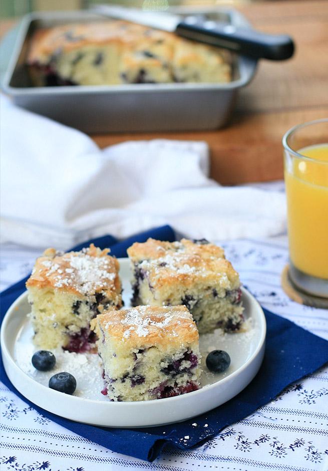 Gluten-Free Blueberry Buttermilk Breakfast Cake