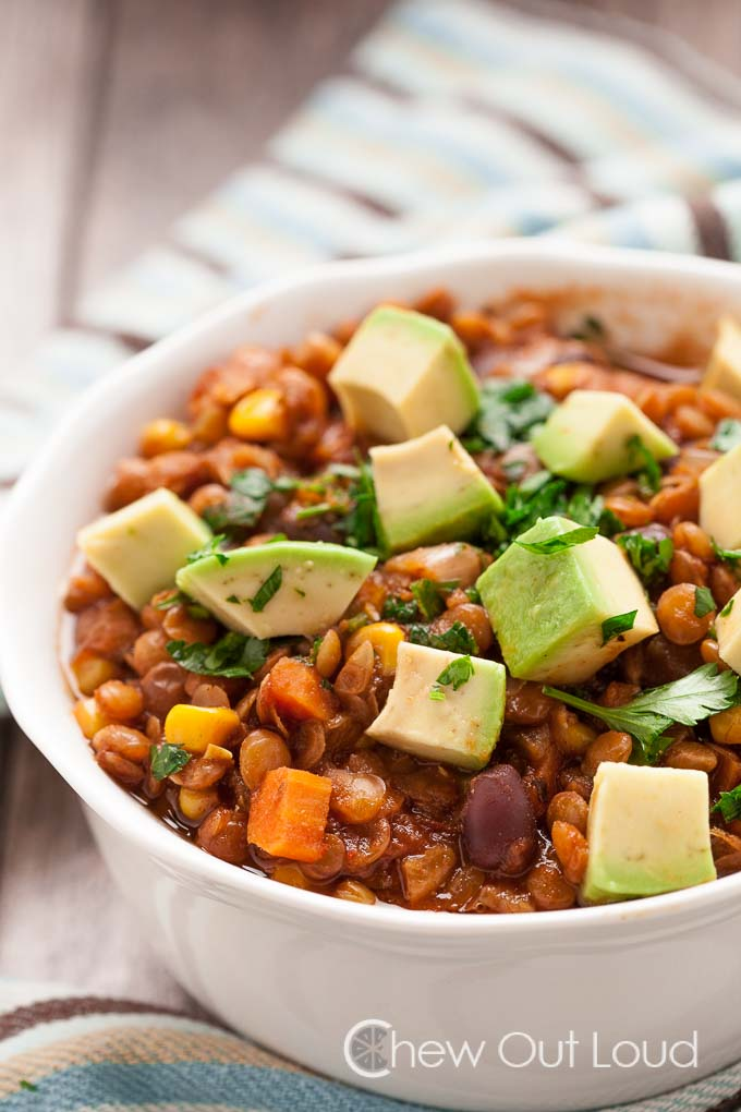 Lentil Black Bean Chili