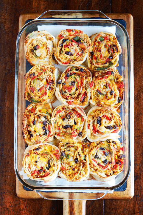 Southwestern Chicken Pizza Rolls