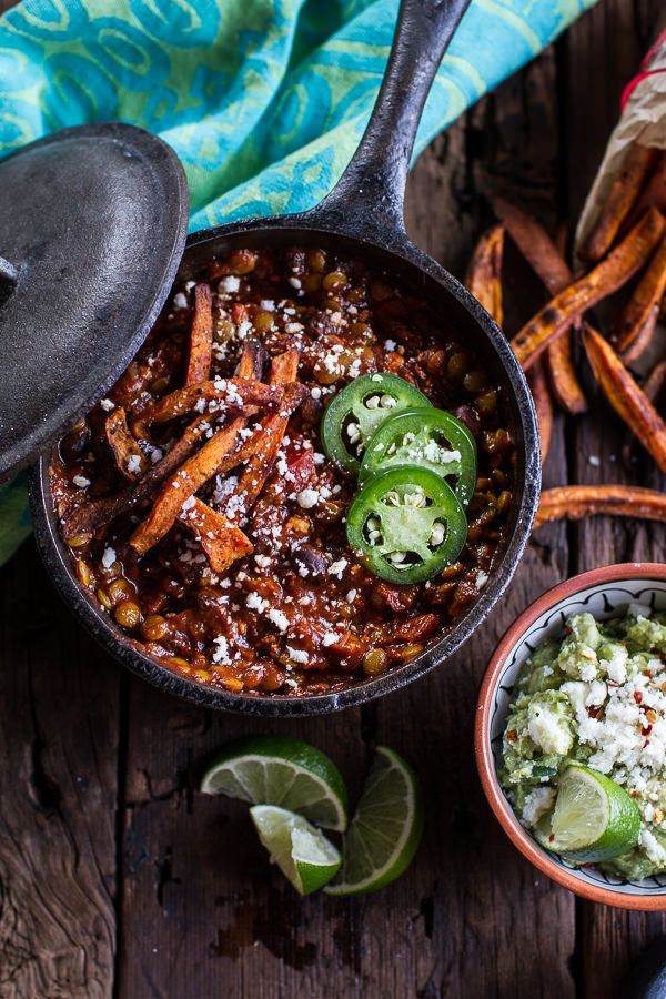 Spicy Black Bean and Lentil Chili